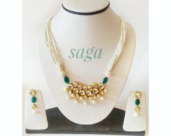 Kundan Jadau Set, Indian Jewellery, Indian Pearl Jewellery