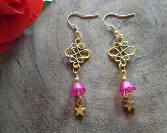 Chinese knot gold earring