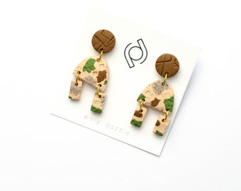 Polymer Clay Earrings - Trudy