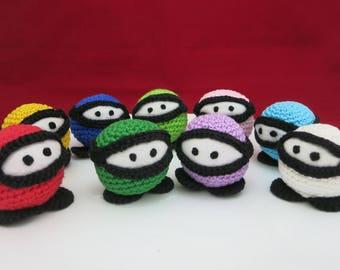Ninja, Ninja Crochet, Ninja Pincushion, Ninja Keychain, Amigurumi Ninja, Mini Pincushion, Ninja dolls, Kawaii, Gift for Mom