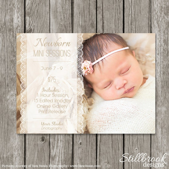 Newborn mini session template marketing board newborn birth