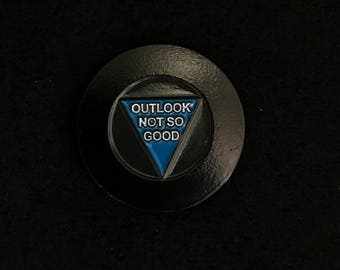 Typical Fortune Magic 8-Ball soft enamel lapel pin