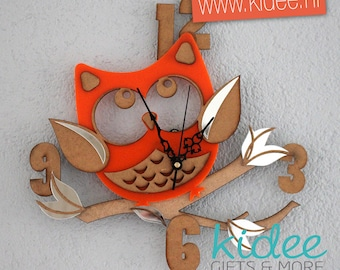 "Clock ""Owl orange"""