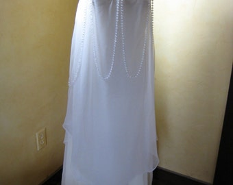 White Fairy Dress - Recycled Clothing/Costume