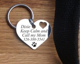 Pet tags, Custom two-sides  Dog Tag, Custom pet tag, Pet Metal dog tag, Pet id tag,  Gift box, Hanmade, personal, Metal necklace