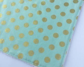 Washcloth - Facecloth - Mint Gold Washcloth - Bath & Beauty - Wash Cloth - Baby Shower Gift - Baby Gift