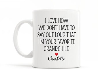 Personalized Grandma Gift from Grandkids Funny Grandma Christmas Gift for Grandma Wedding Gift Grandparents Gift From Grandchild Grandma Mug