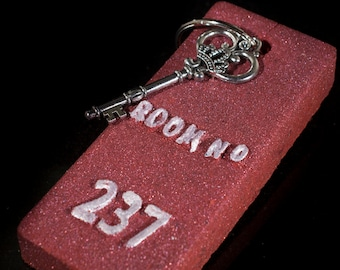 Room 237 Hotel Key Scented In Blood Orange, Each one comes with a antiqued silver skeleton key!