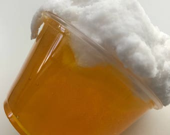 SLIME Harry Potter Butterbeer half and half Clear Cloud Slime! Very Satisfying texture when mixed!