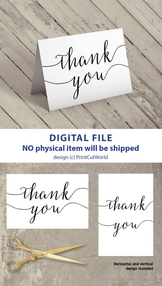 Thank You Card Printable X Wedding Card Thank You Template - 4x6 thank you card template