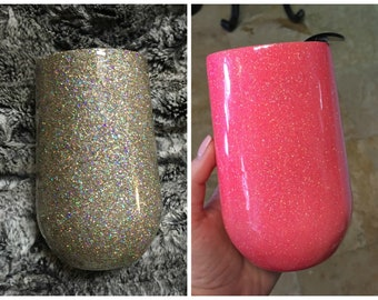 Glittered Wine Glass <3
