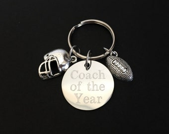 Personalized Football Key Chain. Pewter Football Helmet Key Chain. Customized Key Chain. Football Coach Key Chain. Coach Appreciation Gift.