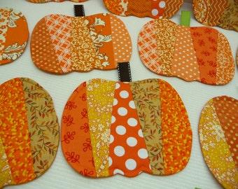 4 Pumpkin Mug Rugs - Coasters - Set of 4