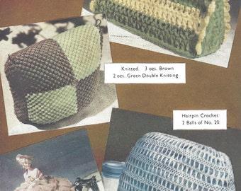 Four Tea Cosies  Vintage Knitting Pattern 536