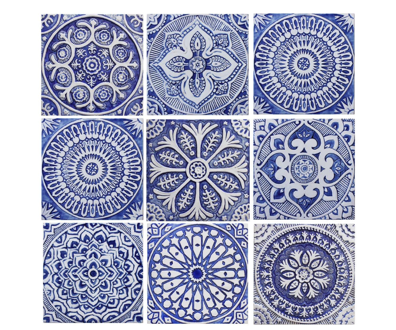 Outdoor wall art set of 9 tiles garden decor ceramic tiles description outdoor wall art dailygadgetfo Gallery