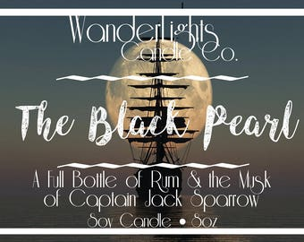The Black Pearl - A Pirates of the Caribbean Inspired Soy Candle - 8oz
