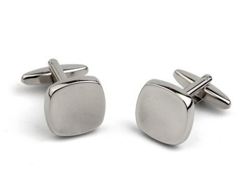 Square Cufflinks with Square Concave Shape