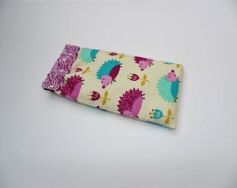 Eye Glass Case, Flex Frame Case,Hedgehog Print