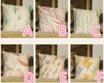 polyester silk imitatio Nature leaves Pillow case  18*18 inch