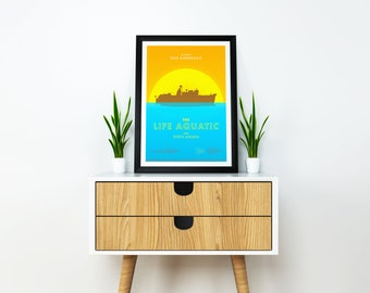 The Life Aquatic with Steve Zissou - Wes Anderson - Contemporary Art Print / Poster