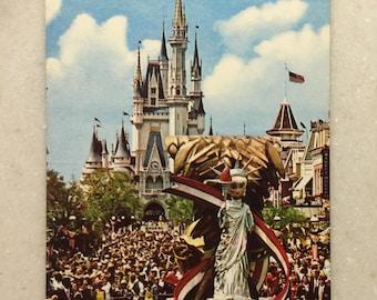 Vintage Postcard Walt Disney World America on Parade Bicentennial Celebration 25 foot Statue of Liberty