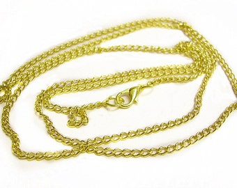 4 of 31 inch gold finish ready to wear necklace chain-9788