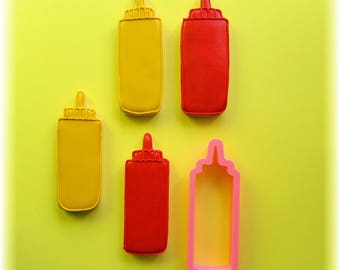 Ketchup Mustard Mayonnaise Squeeze Bottle Cookie Cutter