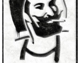 Dank Zig-Zag Man rolling papers Spray Art Metal Sign