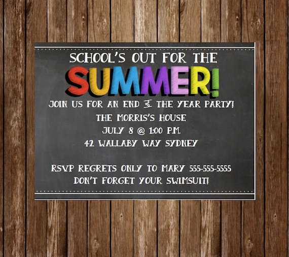 Schools Out End of the Year Party