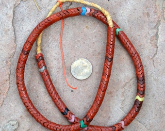 Old Snake Beads: Brick Red