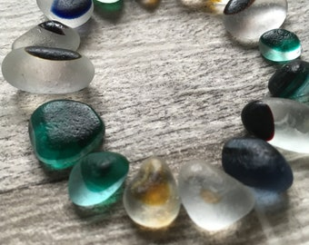Beautiful Small Genuine Seaham Sea Glass Multis