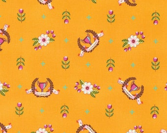 Slow & Steady Winner's Circle Orange Crush PWTP089.ORANG by Tula Pink for Free Spirit