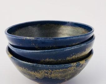 Blue-Gold Soup Bowls