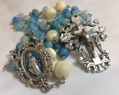Miraculous Medal blue Ros...