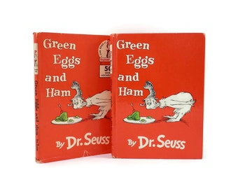 1960 Green Eggs and Ham by Dr. Seuss 1st Edition Book 2nd Print Dust Jacket