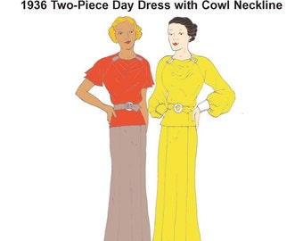 RH1306 — 1930s Day Dress