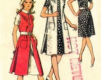 Simplicity 9269 Spectacular Mod Dress & Vest-Coat 1971 / SZ16 UNCUT
