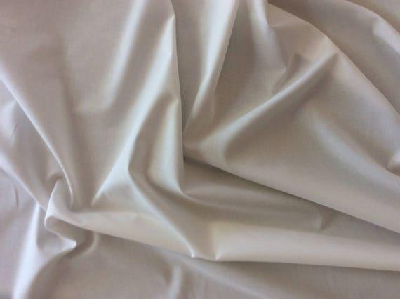 Off white cotton oxford fabric