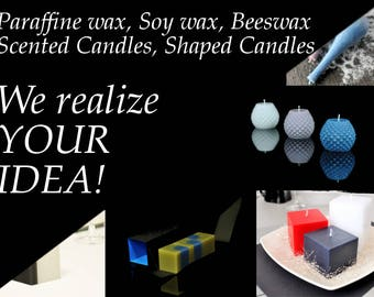 Personalized candle, wedding, event, restorant decoration, scented candles, shaped candles