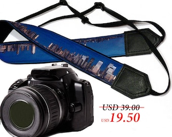 City camera strap. Photography. DSLR / SLR Camera Strap. Camera accessories.