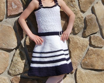 "Crochet Pattern: ""Sweet & Sassy"" Sundress, Newborn thru 8 years Permission to Sell Finished Items"