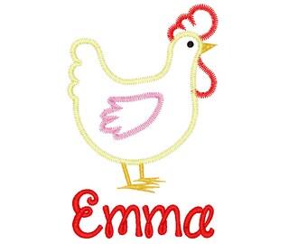 Chicken Applique, Chicken Shirt, Spring Applique, Summer Applique, toddler Shirt