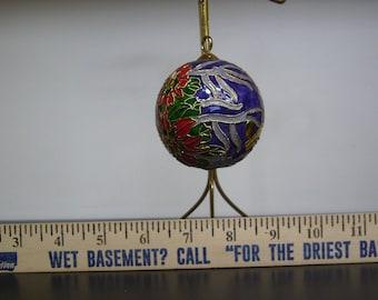 Vintage Christmas Ornament - Cloisonne Enamel S#8