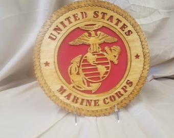 US Marine Logo plaque