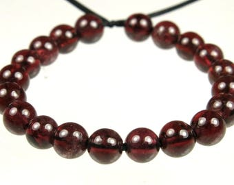 GREAT SALE ~ was 5.99 - Translucent Wine Red Garnet Small Round Bead  - 4mm - 20 beads - B7747