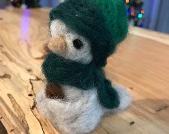 Handmade Felted Wool Woodsy Bird