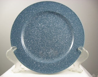 MIKASA Ultrastone 11 Inch Dinner Plate Country Blue with White  Speckles CU501