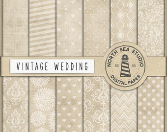 SHE SAID YES, Wedding Digital Paper, Beige Wedding Paper, Bridal Patterns, Wedding Backgrounds, Coupon Code: BUY5FOR8