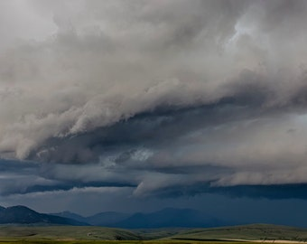 Fine art print of a supercell thunderstorm in Wyoming