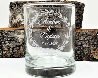 Personalized Favors Wedding Candles 100 Engraved Names and Date Glass Votive Holders Party Decor Keepsake